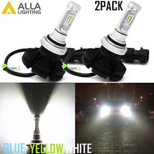 AllaLighitng LED 9012 Headlight Bulb High Low Beam Replace,White,Blue VS Halogen