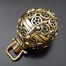 39687 Antique Bronze Brass Hollwed Stars Angel Caller Lockets Pendants 2Pcs