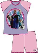 Disneys Frozen ANNA and ELSA GirlsOfficial Short Legged Pyjamas Age 12mths-4yrs