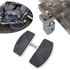 Left+Right Side Motorcycle Floorboards Foot Boards Black for Harley Honda Yamaha