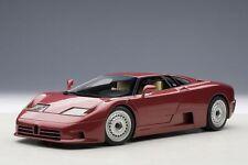 1/18 Autoart Bugatti Eb110 Gt 1991 Rojo Oscuro + Gratuito 1/18 Vitrina Además