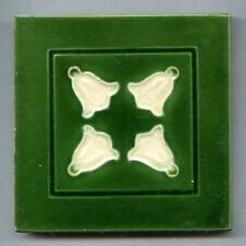 """Relief moulded 3""""sq Art Nouveau tile by Maw & Co, c1900"""