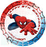 SPIDERMAN CAKE TOPPER ROUND ROUND PERSONALISED EDIBLE ICING CAKE DECORATION