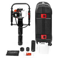 Gas Powered T-Post Driver 32.7cc 1.2HP 2-stroke Gasoline Engine Push Pile Driver