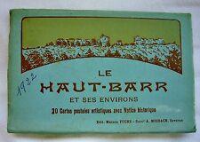Le HAUT BARR ( Bas Rhin 67 ) Album de 20 CARTES POSTALES anciennes ( 1922 )