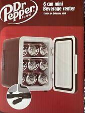 NEW Dr Pepper 6 Can Mini Cooler Fridge 12V Car 120V AC Wall Portable