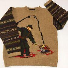vtg tommy hilfiger Polo Sportsman Fisher Man Sweater Size L Fits Xl