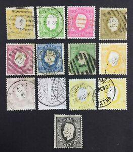MOMEN: PORTUGAL SC #35/51a 1870-84 USED $370 LOT #4015