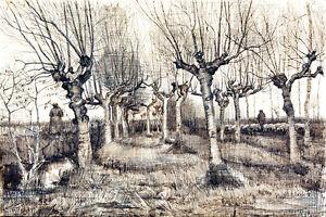 Vincent van Gog Pollard Birches canvas print giclee 8X12 reproduction art poster