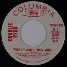 CHARLIE BYRD: While My Guitar Gently Weeps USA Beatles Harrison, PROMO 45