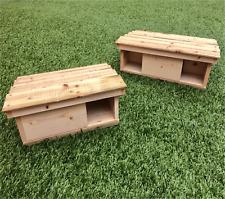 Wooden Hedgehog House / Shelter Hibernation Nesting Box - Single / Double