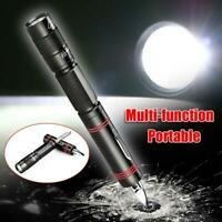 Portable Torch Pen With Knife LED Light for Self Defense Breaker Multi-Tool