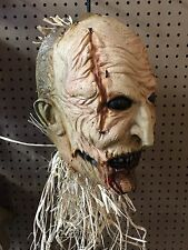 Evil Scarecrow Haunted Hayride Demon Halloween Cut Off Head Prop Cornelius