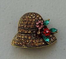 Vintage 1920s Rhinestone Ladies Cloche Hat Fashion Brooch Pin Brand New FREE P&P