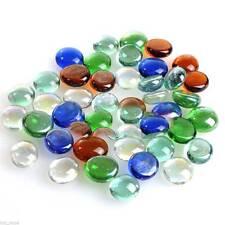 100g Mixed Color Glass Marble Pebbles Stones for Fish Tank Aquarium Stone