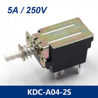 2Pcs 5A 250V AC DPST 4 Pins Push Button Power Switch KDC-A04-2S
