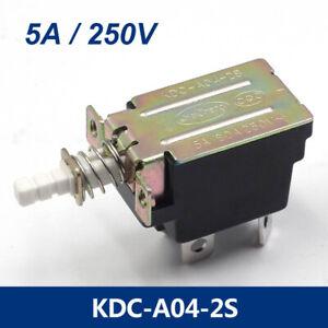 5Pcs 5A 250V AC DPST 4 Pins Push Button Power Switch KDC-A04-2S