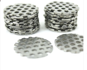 1.5MM thick Perforated Disc/Blank/Circle. 304 stainess steel. Laser cut Quality