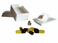 """Capsule Filling Machine Size """"0"""" + 500 COLORED Gelatin Capsules - Easy to Use"""