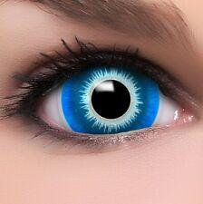 "Maxi Sclera Lenses ""Elf"" blaue Kontaktlinsen Crazy Farbige Halloween Linsen"