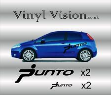 LARGE -  Fiat Punto racing vinyl stickers decals graphics Kit