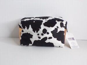 New Jade & Deer Cowprint Small Cosmetic/Travel Bag - MSRP $12