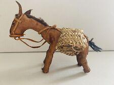Vintage Handmade Leather Folk Art Donkey