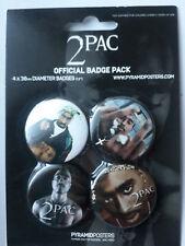2 PAC TUPAC Makaveli Shakur BROCHE PINES OFICIALES DIVISA PACK 80104