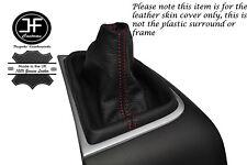 Polaina De Engranaje Costura Manual Cuero rojo se adapta a Honda Civic Mk IX 9 2012-2015