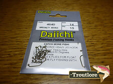 15 x DAIICHI 4640 #14 HEAVY JIG 60 DEGREE NYMPH FLY HOOK NEW FLY TYING MATERIALS