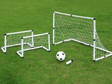 3pcs Portable Soccer Goal Net Frame Backyard Football Training Set+Football