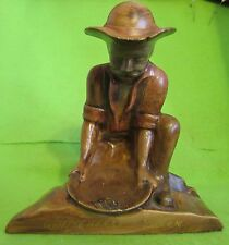"Yukon Gold Prospector Kneeling & Panning 6.5"" High Carol's Ceramic's The Yukon"