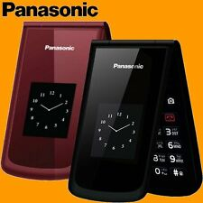 "Panasonic VS100 2MP BT MP3 2.8"" GSM Quadband 3G Clamshell Flip Mobile Cell Phone"