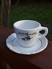 Vtg BLACKIE'S HOUSE OF BEEF Coffee Tea Cup Saucer RARE Syracuse Restaurant Ware