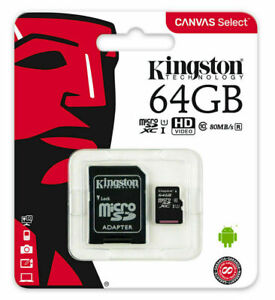 Micro SD Card SDHC SDXC Memory Card TF Class 10 64GB  &SD Adapter