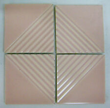 Vintage Gladding McBean Modern Tile Set/Pink=4 Ridges