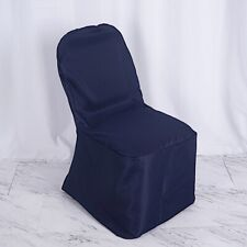 50 Navy Blue Polyester BANQUET CHAIR COVERS Wedding Ceremony Party Decorations