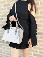 Michael Kors Medium Ciara Messenger Bag White MK Gray