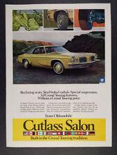 1974 Oldsmobile Cutlass Salon color photo vintage print Ad