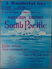 A WONDERFUL GUY Rodgers & Hammerstein SOUTH PACIFIC Sheet Music 1949