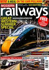 MODERN RAILWAYS 827 AUG 2017 Rail Evolution,Great Western,Metrowest,LGV,Europe