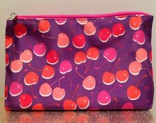 Clinique Cherry Print Makeup Cosmetic Bag Travel Case NEW! 2017