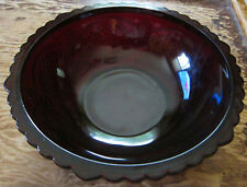 Avon 1876 Cape Cod Ruby red glass collection vegetable serving bowl
