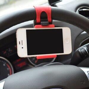 Universal Car Steering Wheel Mobile Cell Phone Holder GPS Bracket Accessories