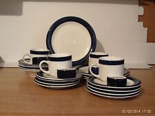Totally Today Navy and White 24 Piece Dinnerware Set Service For 4