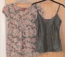 MONSOON - Ladies 2 PIECE BLOUSE TOP with MATCHING CAMISOLE - Size 10