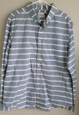 18cf2797ec9 NEW Target Goodfellow Long Sleeve Gray   White Casual Dress Shirt Button size  XL