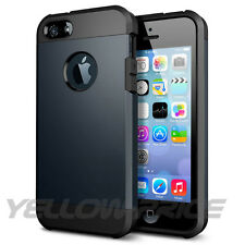 iPhone 5 5S Case Dual Layer Armor Shock Proof Hybrid Cover - Metalslate Toronto