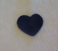 New listing Crochet Navy Blue Heart Sewing Appliques Quilting Scrapbooking