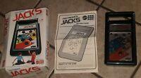 MATTEL JACKS Vintage Electronic Handheld Tabletop Video game W BOX/INSTRUCTIONS